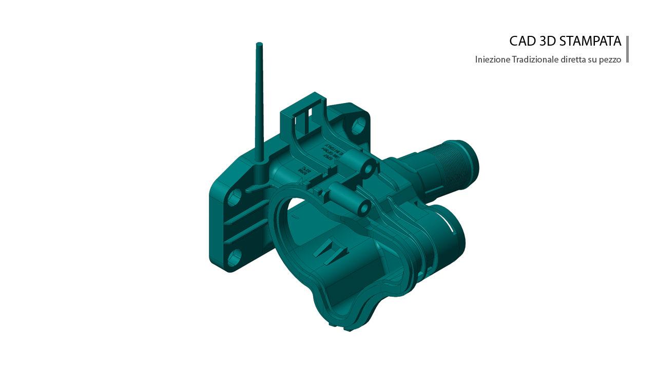 Corpo termostato motore stampata